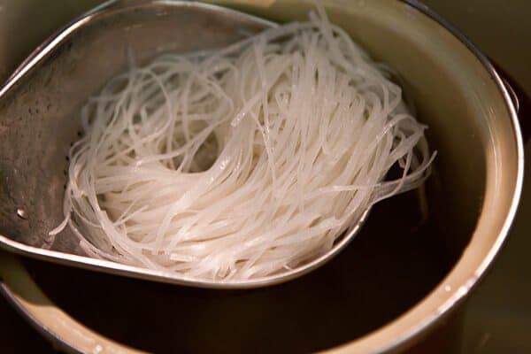 noodles drained