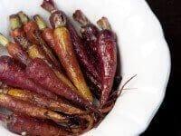 Carrots pomegrante glaze