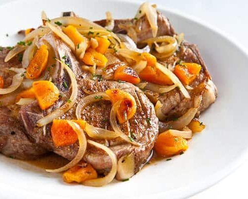 Pork Chops With Apricot Brandy Sauce Steamy Kitchen Recipes Giveaways