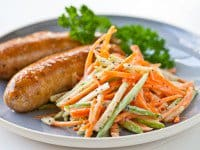 Chicken Sausage Apple Slaw Recipe- finished dish