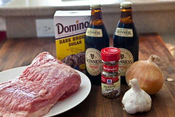 ingredients for guinness corned beef