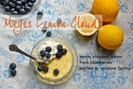 recipe for meyer lemon clouds whipped cream blueberries