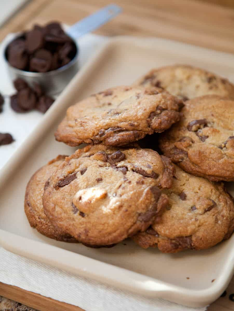 Nutella Chip Cookies with Homemade Nutella Chips