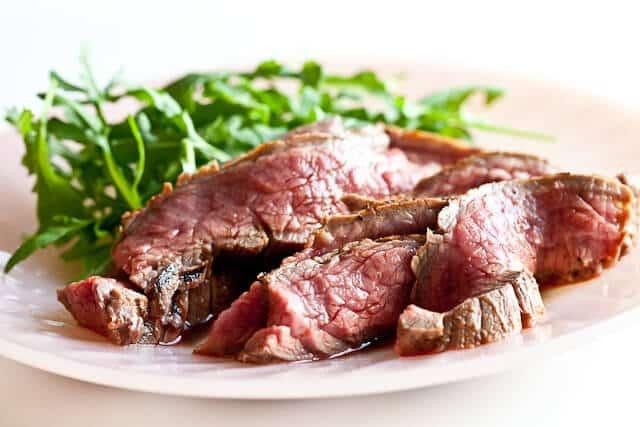 Ginger Flank Steak With Sake-glazed Vegetables Recipe ...
