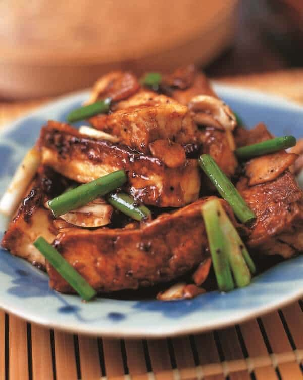 tofu ginger black bean sauce