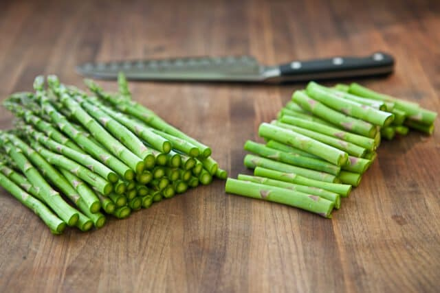 Asparagus Gratin recipe - cut off stems