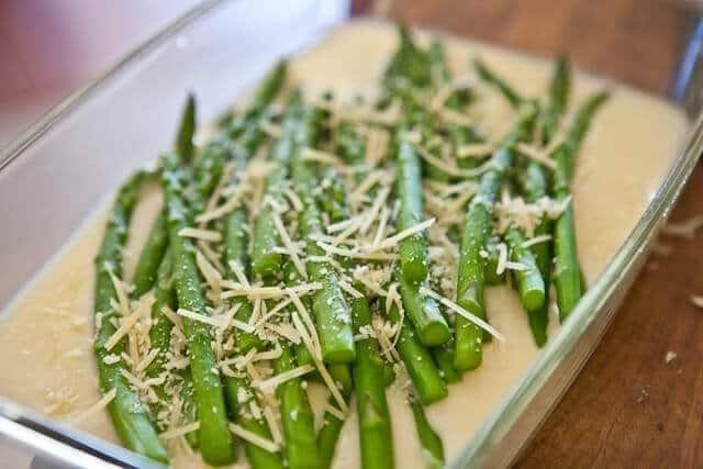 Asparagus Gratin recipe - parmesan
