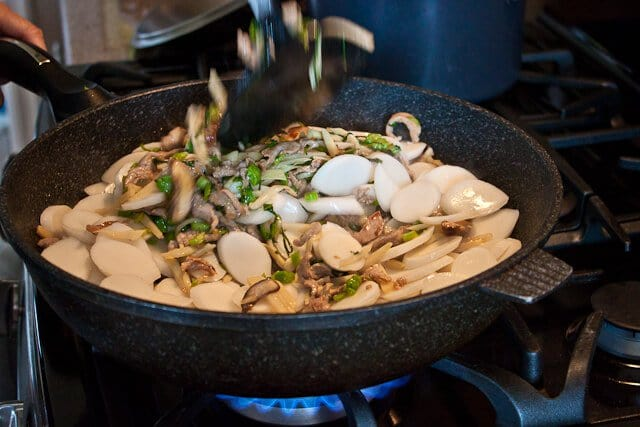 Chinese Stir Fried Sticky Rice Cakes (Nian Gao) - Steamy Kitchen ...
