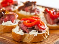 Flank Steak Goat Cheese Tapas Bruschetta Recipe