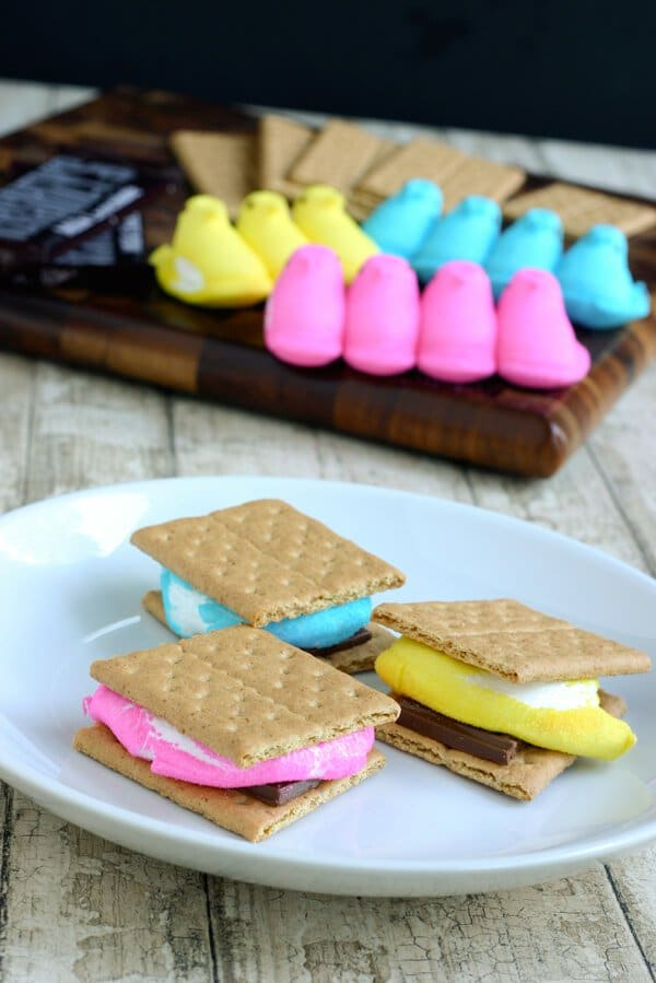 ... . See Angie's post on Eclectic Recipes for her Peeps S'mores