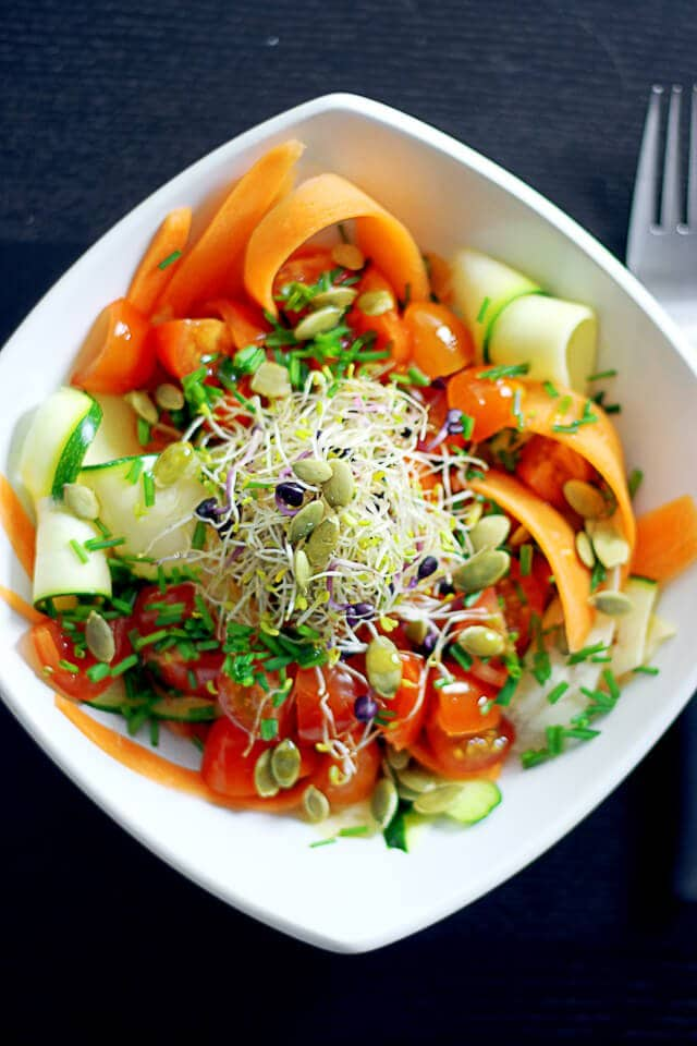 Carrot and Zucchini Linguini Salad - Steamy Kitchen Recipes