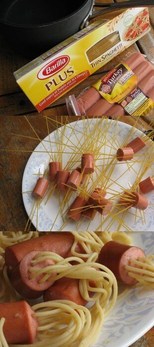 hot-dog-spaghetti