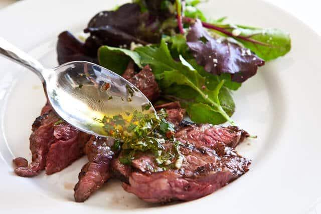 Skirt Steak with Chimichurri Sauce • Steamy Kitchen Recipes
