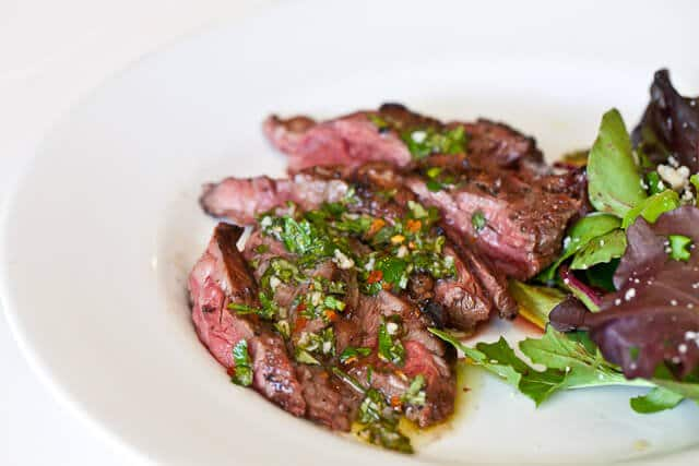 Skirt Steak with Chimichurri Sauce - Steamy Kitchen Recipes
