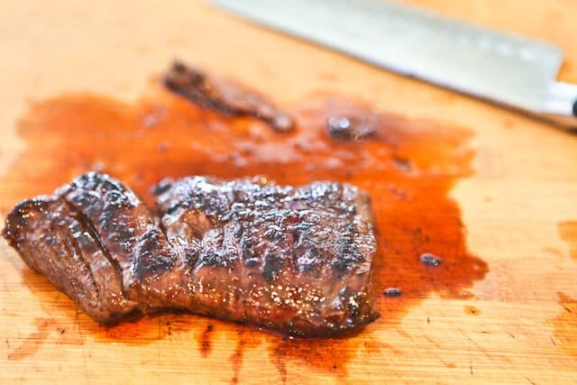 Rest the meat for Skirt Steak Tacos Recipe