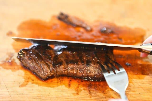 Slice across the grain Skirt Steak Tacos Recipe
