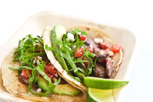 Skirt Steak Tacos Recipe | Steamy Kitchen