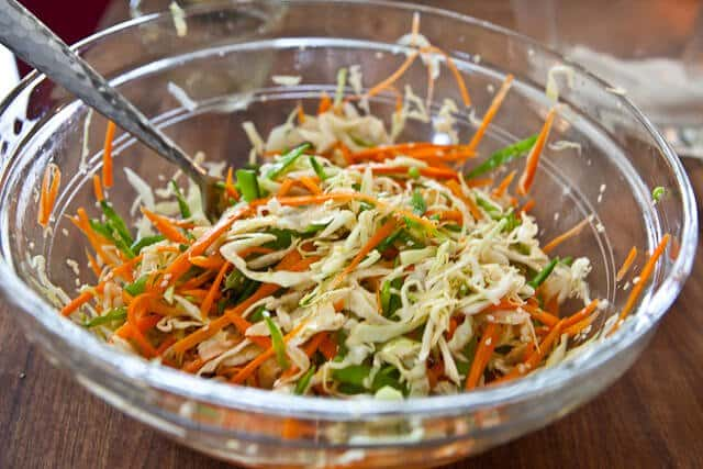 Asian Slaw With Ponzu Dressing Recipe — Dishmaps