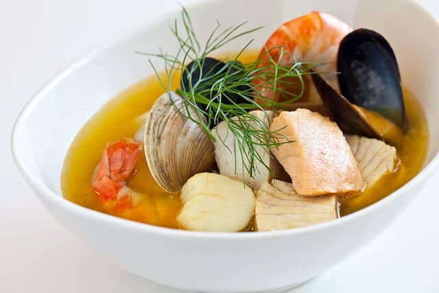 bouillabaisse in bowl