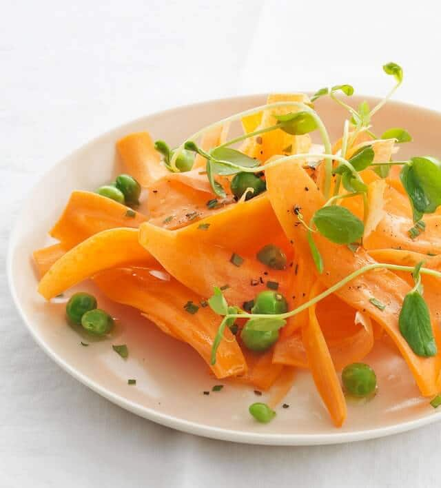 carrot pea mint salad recipe