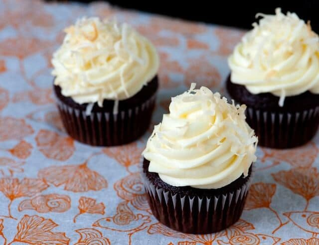 Chocolate and Coffee Cupcakes with Coconut Frosting - Steamy Kitchen ...
