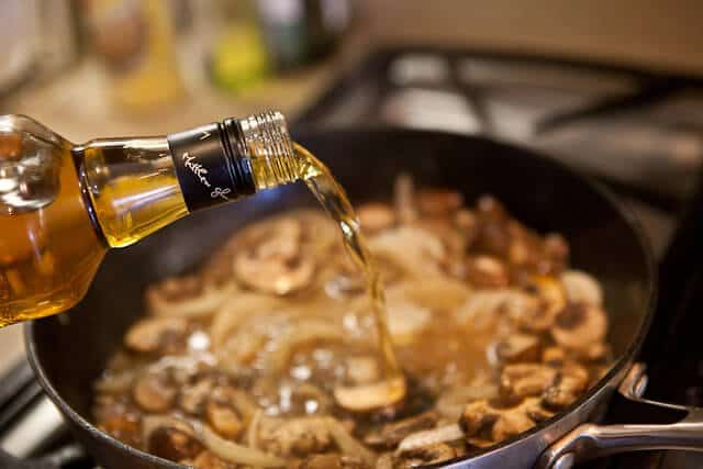 Steak with Whiskey Mushroom Sauce - Steamy Kitchen Recipes