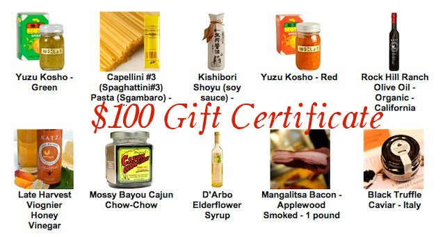 100 gift card chefshop