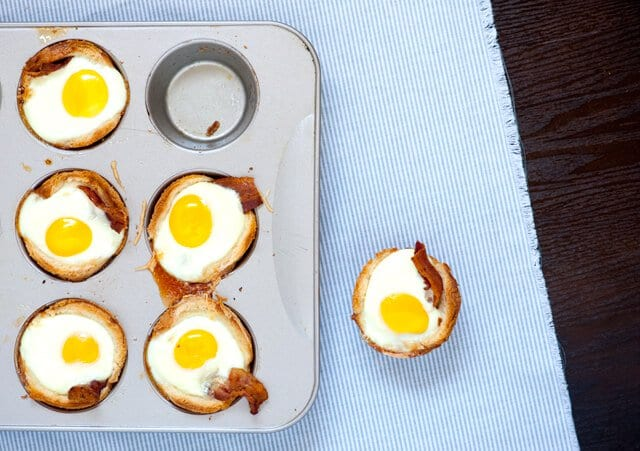 Bacon, Egg and Toast Cups - Steamy Kitchen Recipes