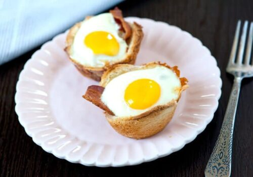 egg cups on plate