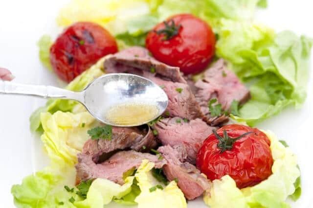 Grilled Flank Steak Salad With Tomatoes Recipes — Dishmaps
