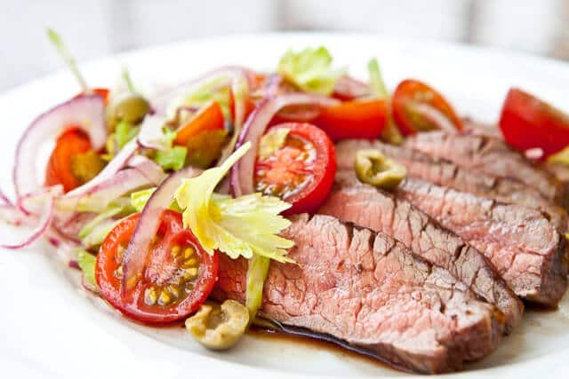 ... for Flank Steak with Bloody Mary Tomato Salad Recipe. (read more