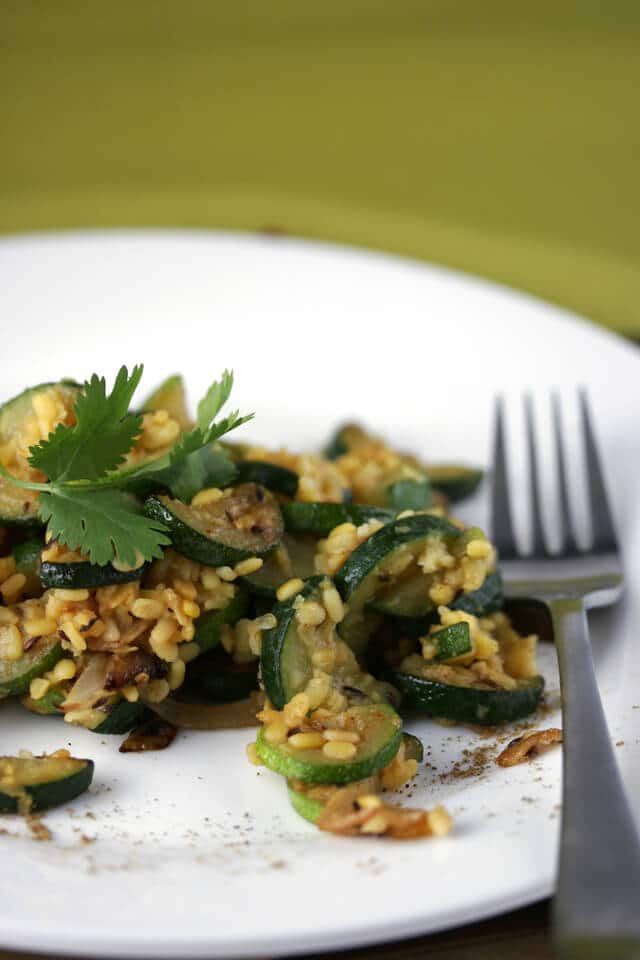 Zucchini with Lentils and Roasted Garlic - Steamy Kitchen Recipes