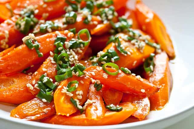 Roasted Carrots with Sesame Ponzu Vinaigrette - Steamy Kitchen Recipes