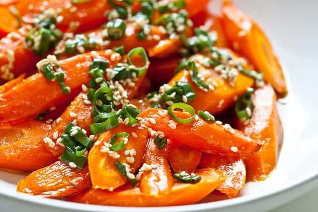 Roasted Carrots with Sesame Ponzu Vinaigrette