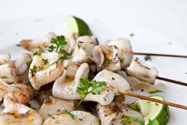simple grilled calamari