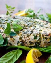 Grilled Fish with Citrus Herb Crust Recipe - final photo