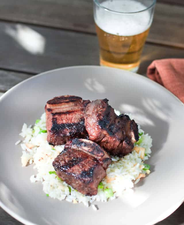 Kalbi Ribs with Macadamia Nut Rice - Steamy Kitchen Recipes