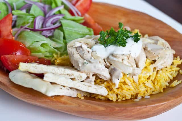 Turkey Recipe: Halal Cart Style Turkey and Rice with White Sauce ...