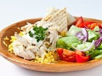 Halal Cart Style Turkey with Rice and White Sauce Recipe