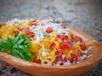 Spaghetti Squash Recipe with Tomatoes and Basil