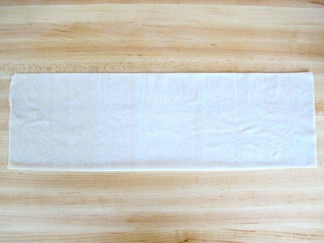 long sheet of filo