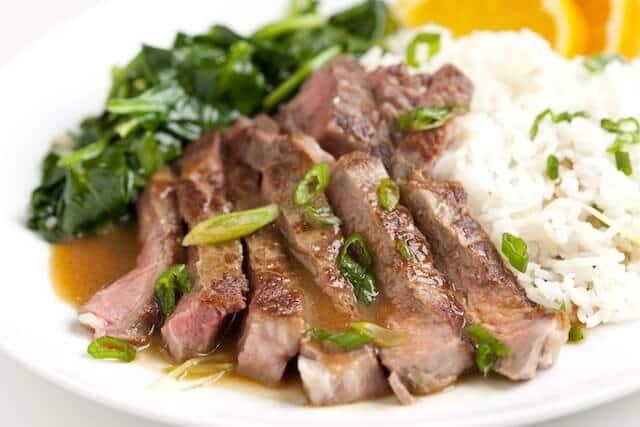 Steak with Orange Miso Sauce