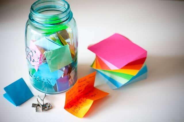 For the New Year: Make a Memory Jar