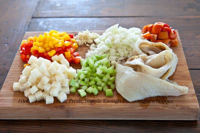 ingredients for bacalao recipe