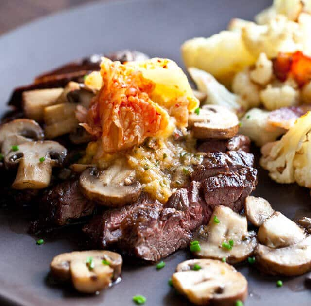 Steak with Kimchi Butter