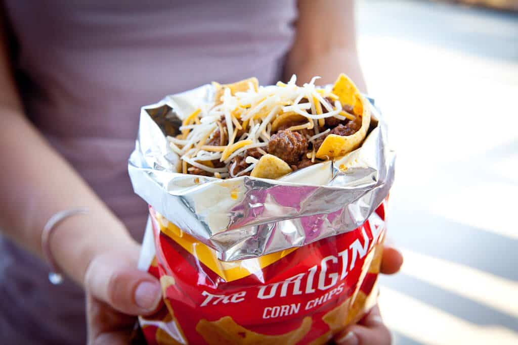 Frito Pie with 1 Hour Texas Chili - Steamy Kitchen Recipes
