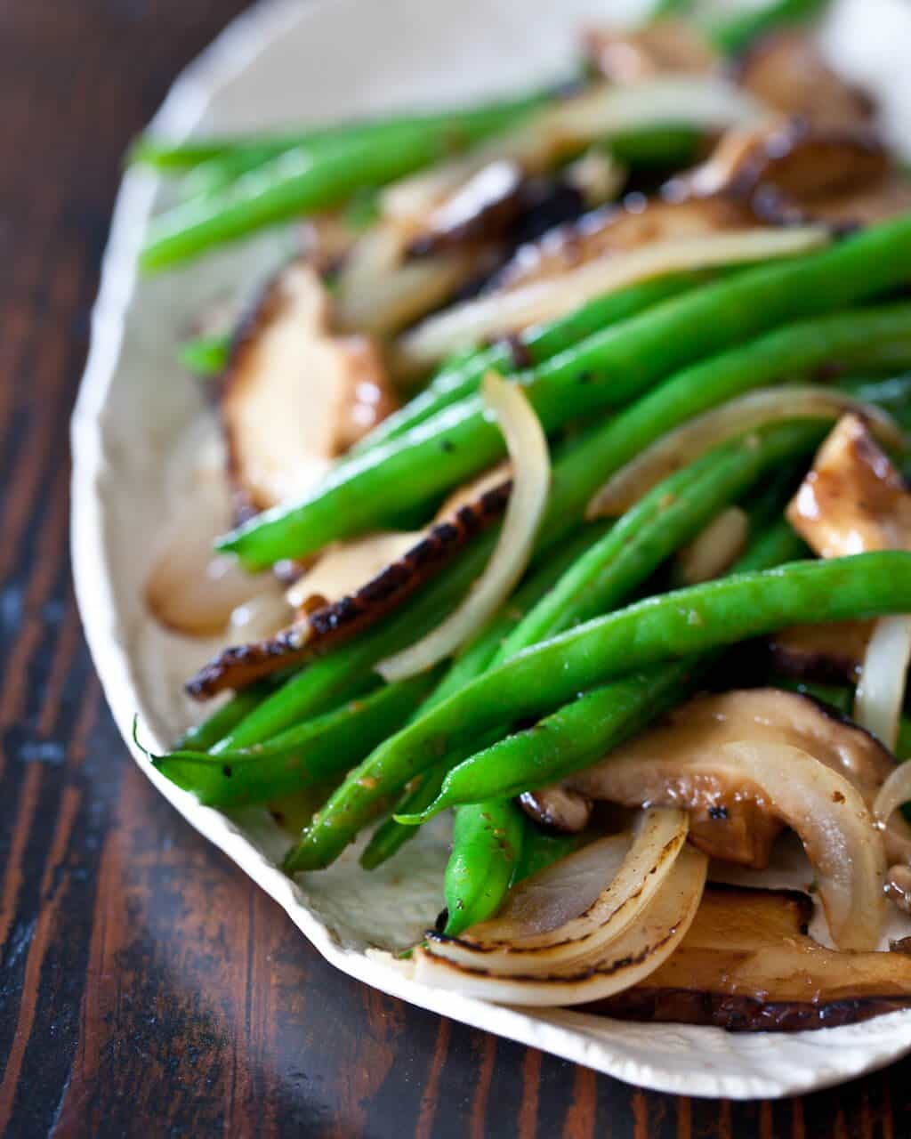 Green Bean and Mushroom Stir Fry