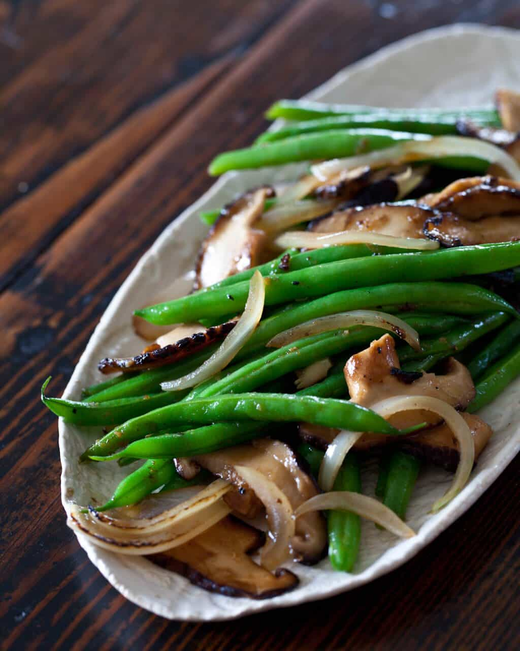 shiitake mushrooms green bean and shiitake green beans shiitake