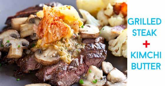 Steak with Kimchi Butter Recipe