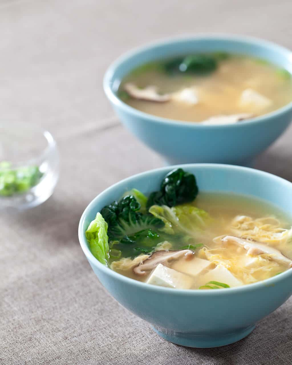 Tofu and Mushroom Miso Soup - Steamy Kitchen Recipes